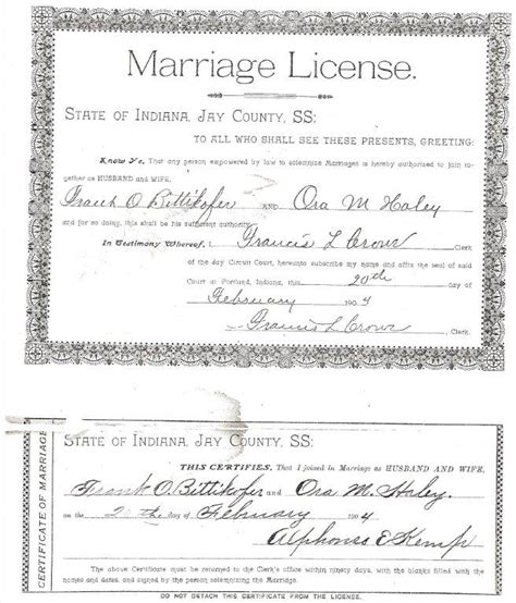 Hamilton County Ohio Marriage License Records Tjl Genes Preserving Our Family History 1 1 13 2 1 13