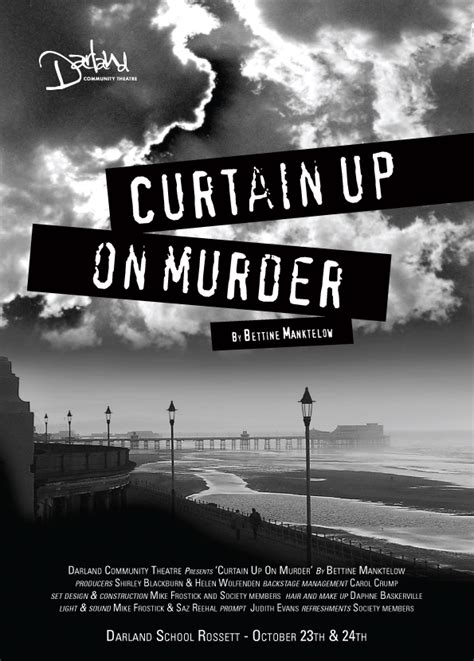 curtain up on murder our plays darland community theatre