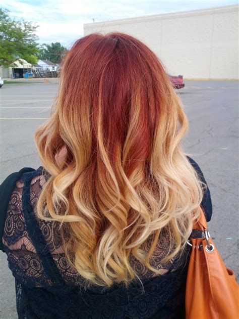 ombre with red and blonde red brown blonde ombre ahaneith emily corder