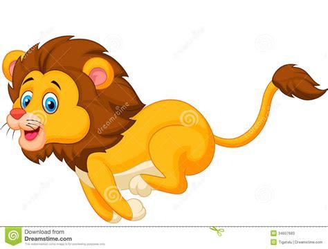 imagenes de leones animados cute lion cartoon running stock vector image of single