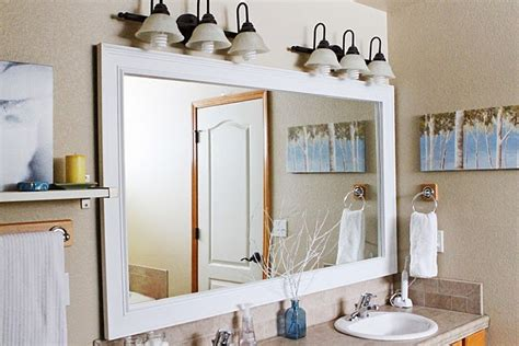 bathroom mirror frame diy diy