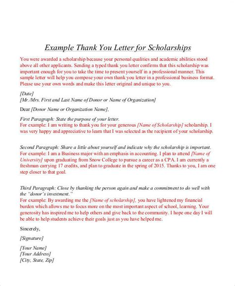 Award Letter Thank You 9 sle award thank you letter free sle exle