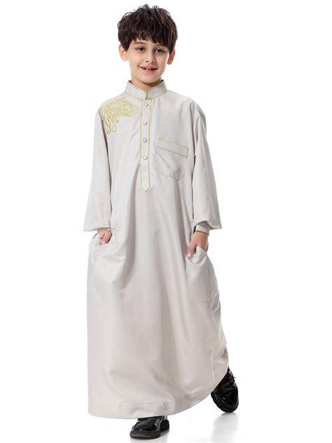 Abaya Ori Saudi Manal uae boys prayer robe saudi dubai muslim longsleeve dress abaya kaftan jilbab ebay