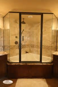 Corner Bath Shower Combo Nice Big Shower And Tub Combo Dream Bathroom Pinterest