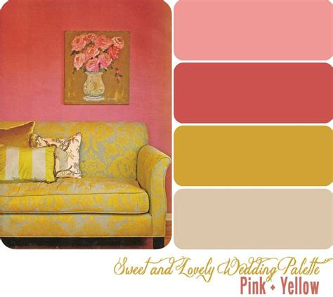 colors that go with yellow pink and mustard color collective pinterest