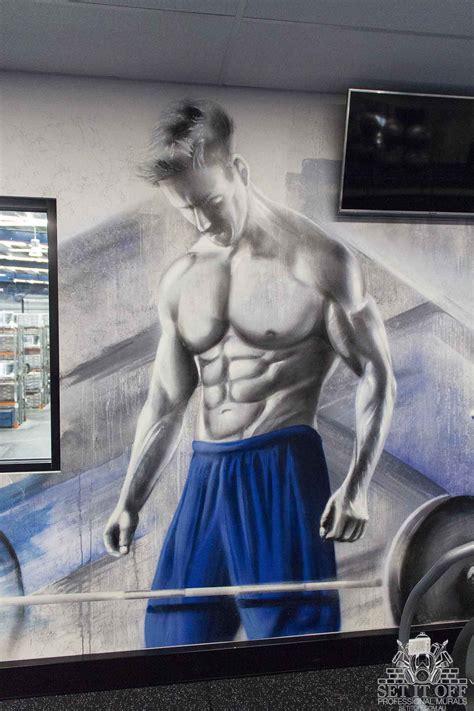 gym interior graffiti mural street artist melbourne