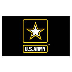 us army colors army logo flag 3ft x5ft knit polyester