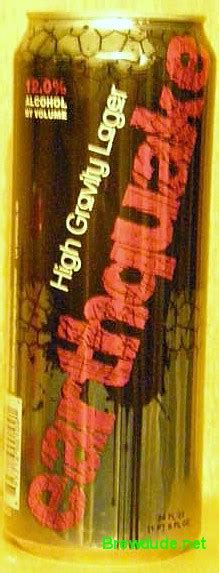 earthquake high gravity lager 24 oz beer cans