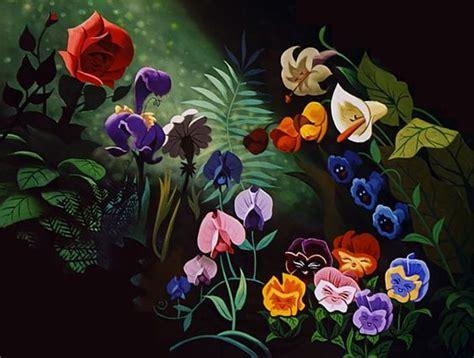 imagenes flores maravillas flores de alicia en el pais de las maravillas disney