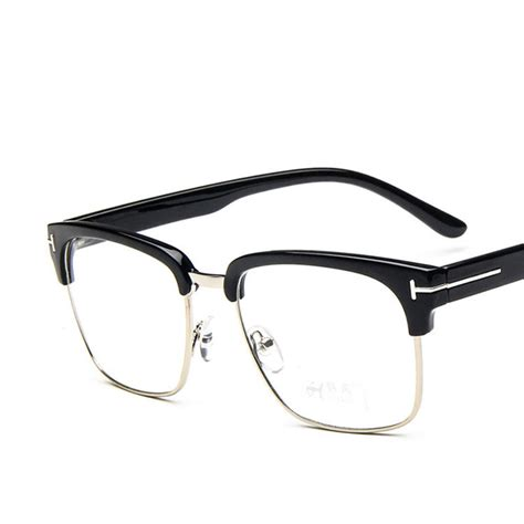 Square Metal Glasses aliexpress buy classic square tf glasses frame