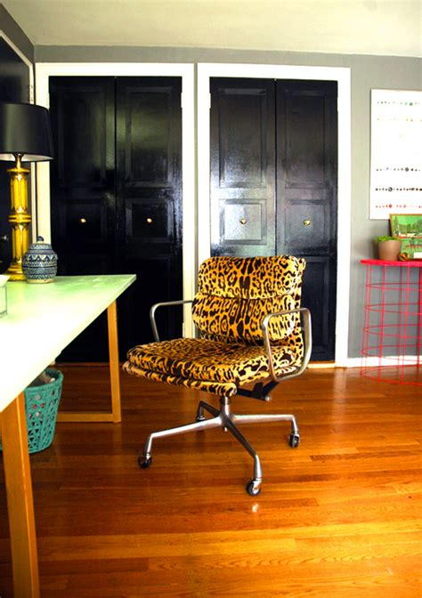Leopard Office Chair - leopard print accessories for the home swoon worthy
