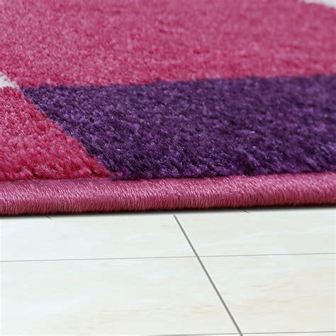 teppiche pink kinderzimmer teppich pink lila creme retro model f 252 r