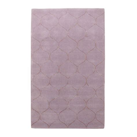 Kas Rugs Simple Scallop Lavender 8 Ft X 10 Ft Area Rug Simple Area Rugs