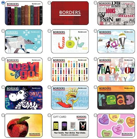 Borders Bookstore Gift Cards - what to do with unredeemed borders gift cards mybanktracker