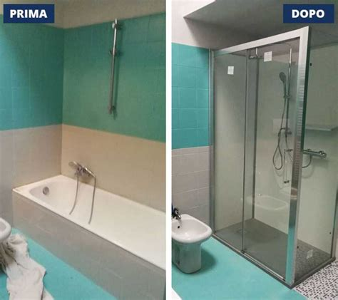 cambiare vasca da bagno con doccia sostituzione vasca con doccia