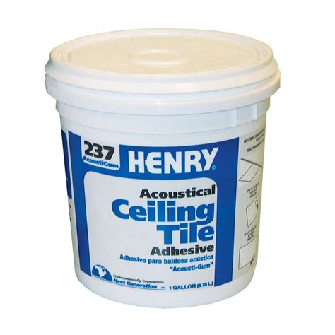 henry 237 1 gal acoustical ceiling tile adhesive 12016