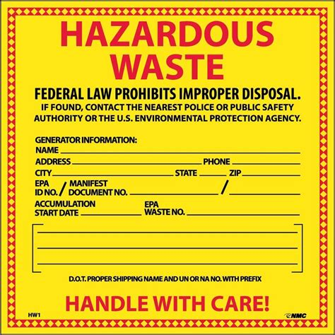 Proposed Haz Waste Generator Improvement Rule Part 3 Cox Colvin Associates Free Hazardous Waste Label Template