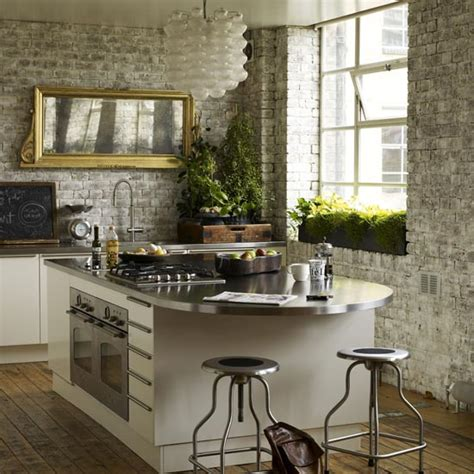 Kitchen Wall Design by Creative Brick Wall Kitchen Design Ideas