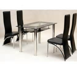 Glass Kitchen Tables And Chairs Glass Dining Table And Chairs Ebay 187 Gallery Dining