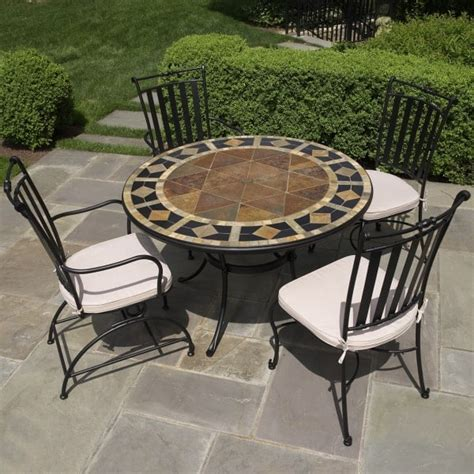 marble patio furniture 5 san marco mosaic patio dining set from alfresco