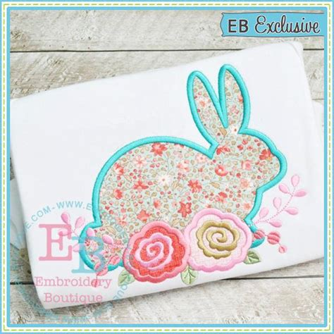 embroidery design boutique 2 bunny roses 2 applique embroidery boutique
