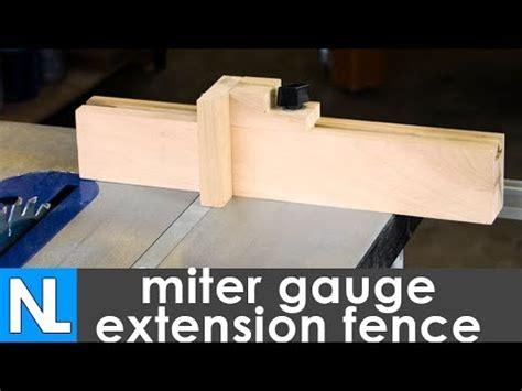 miter gauge extension fence woodworking