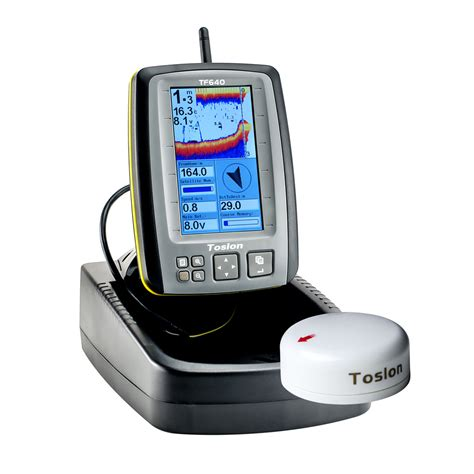 boat gps and fish finder toslon tf640 echo sounder gps anatec bait boats uk