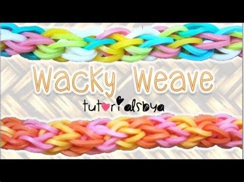 Wacky Weave Loom Band Bracelet Gelang 153 best images about tutorialsbya s rainbow loom