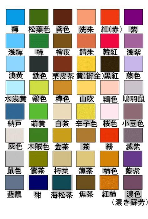 colors in japanese japanese color my works