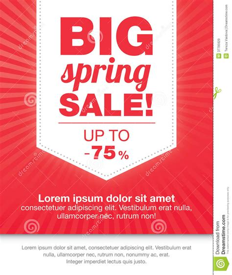 sale templates modern colorful sale flyer stock illustration image of