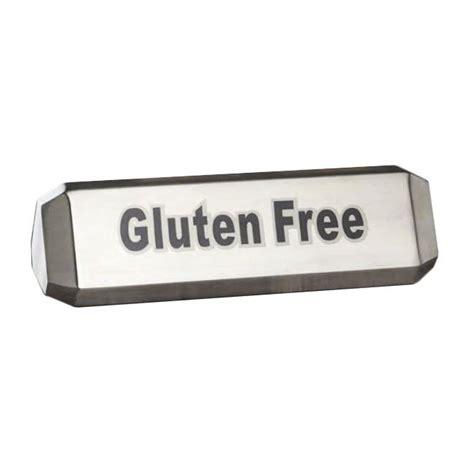 table gluten free metalcraft ttsvg3 three sided table sign quot vegan