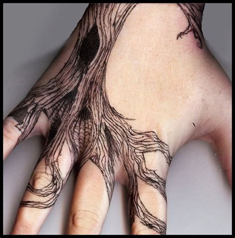 tattoo hand tree awesome traditional tree tattoo designs on hand for men
