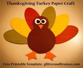 Paper Crafts For Thanksgiving - thanksgiving turkey paper craft for free pdf pattern