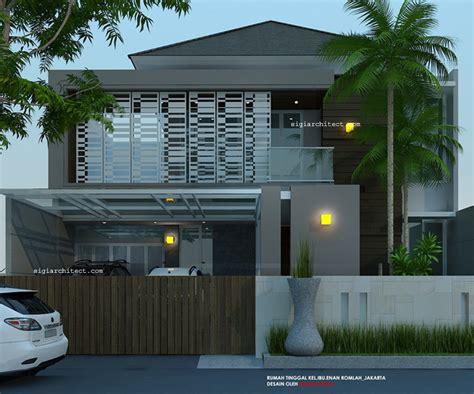 desain eksterior rumah tropis modern desain rumah 2 lantai minimalis tropis modern