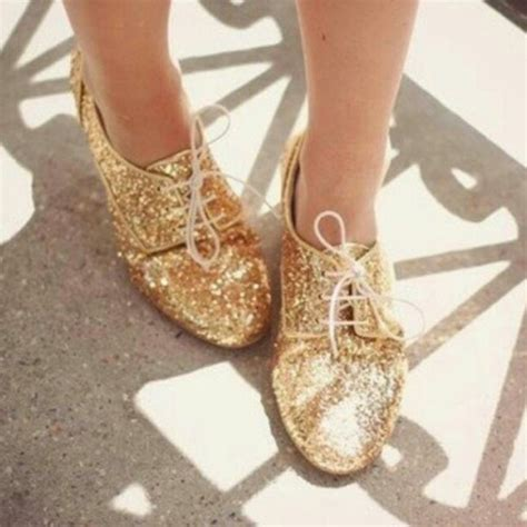 glitter oxford shoes shoes glitter oxfords gold wheretoget