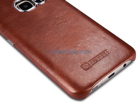 Samsung Original Leather Back Cover For Galaxy S7 Edge icarer samsung galaxy s7 vintage back cover series genuine leather