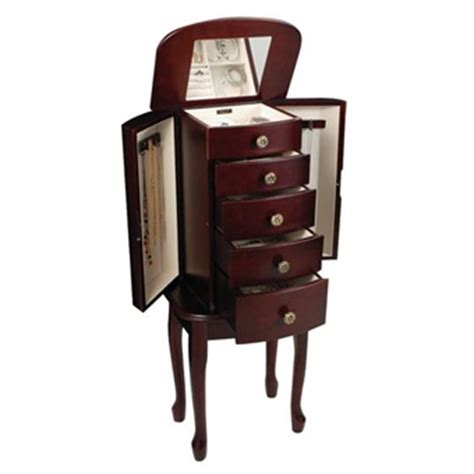standing armoire jewelry box free standing jewelry armoire