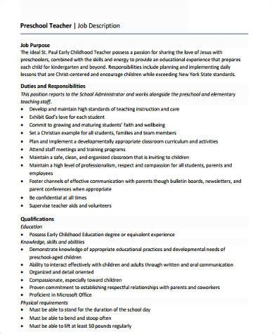preschool format resume 6 sle preschool resumes sle templates