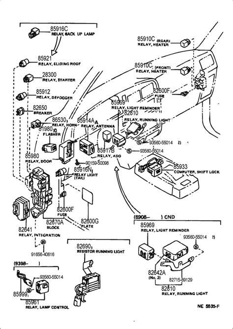 Toyota 4runner Starter Location 1990 Toyota 4runner Wiring Diagram Sensors 1990 Get Free