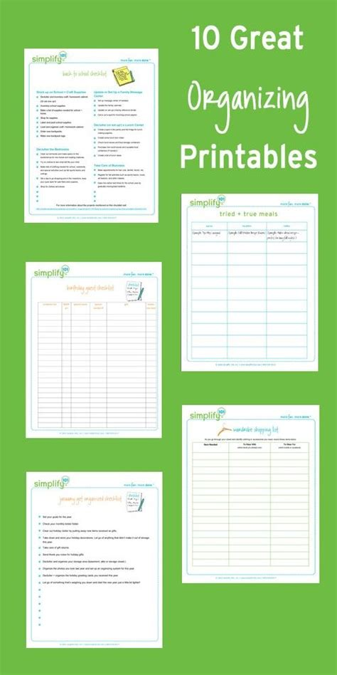 printable organizational forms 1068 best images about organize nation forms ways to
