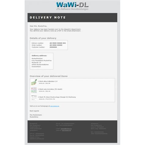 Design Vorlage Englisch Jtl Wawi Email Vorlagen Html Englisch Design 01 Wawi