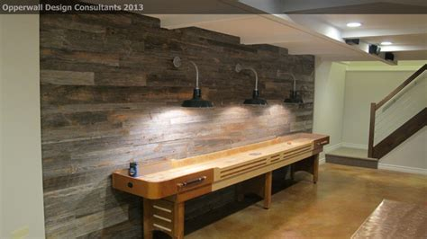 barnwood wall farmhouse basement detroit by