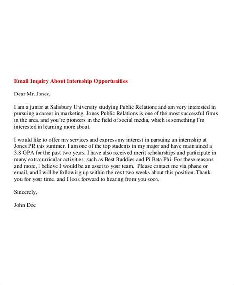 format untuk email 6 internship email exles sles pdf