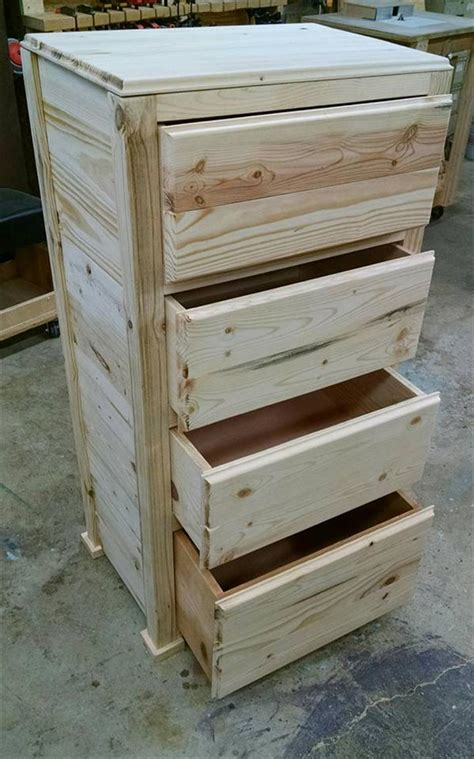 To Drawer Pallet Wood Chest Of Drawers Pallet Furniture