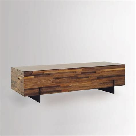 West Elm Wood Coffee Table Mixed Wood Coffee Table West Elm