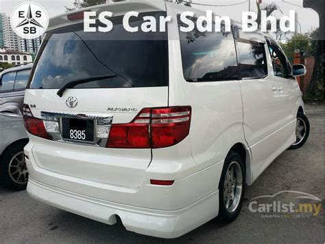 toyota alphard 2004 g 3 0 in selangor automatic mpv white for rm 64 800 3547065 carlist my