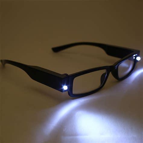 led lights for glasses unisex rimmed reading glasses eyeglasses spectacal with
