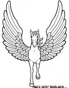 pegasus unicorn horse coloring pages printable free
