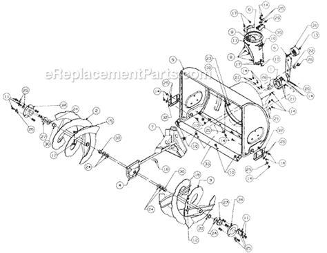 mtd snowblower parts diagram mtd 316e640f382 parts list and diagram 1996