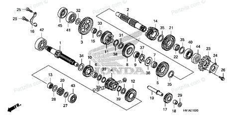 honda transmission parts diagram honda atv parts 2007 trx400ex a transmission diagram